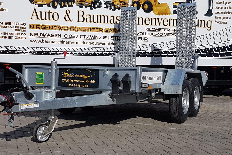 PKW Anhänger 3,5 t, Mini Tieflader für Minibagger 3,5 t mieten