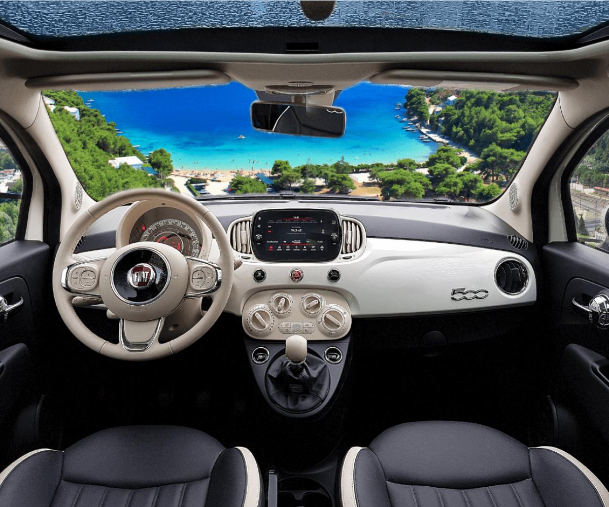 Kleinwagen Abarth 500 mieten, Alfa Romeo, Audi A1, Audi A2, Audi A3, BMW 1, BMW i3, Citroën C1, Citroën DS3, Chevrolet Matiz, Dacia Sandero, Fiat 500, Fiat Pand